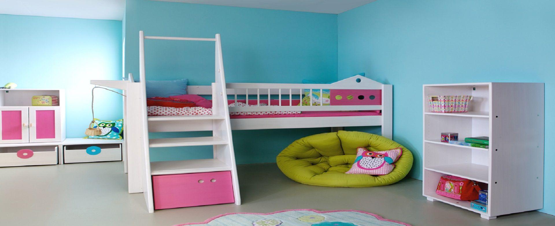 kids room blue & pink