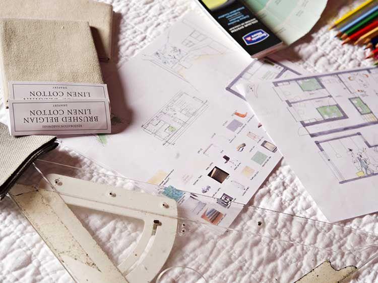 طراحی داخلی با کاغذ و پارچه